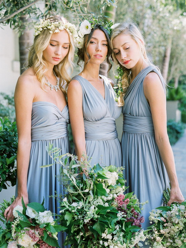 Convertible Multiway Bridesmaid Dresses Dusty Blue